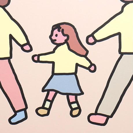 FAMILY WALK WALK   A3 poster(受注生産商品)
