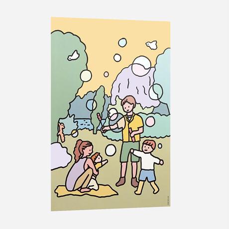 SOAP BUBBLES   A3 poster(受注生産商品)