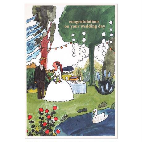 WEDDING COUPLE 2   Cake card
