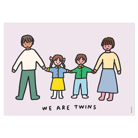 TWINS FAMILY (BROTHER & SISTER) | A3 poster(受注生産商品)