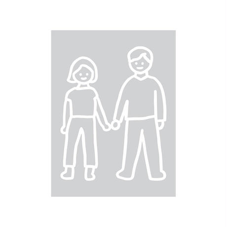 COUPLE | Contact Paper Sticker