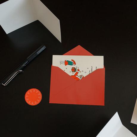 SANTA AND GIRL | Christmas card