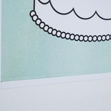 STRAWBERRY CAKE MINT   A3 RISO poster(受注生産商品)