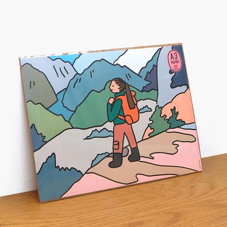 Trekking   A3 poster(受注生産商品)