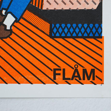 FLAM 2 | A3 RISO poster(受注生産商品)