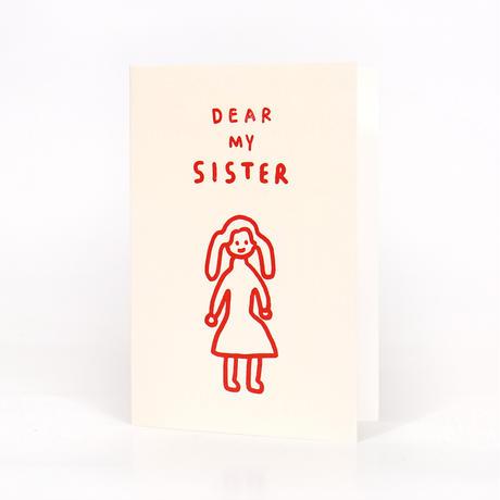 DEAR MY SISTER | Pressed Card