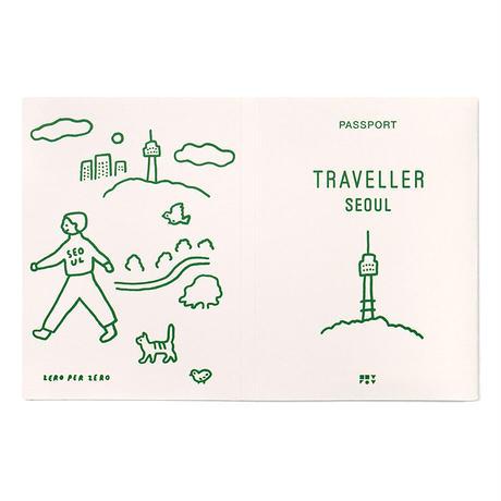 WALK WALK SEOUL Ivory | Passport cover