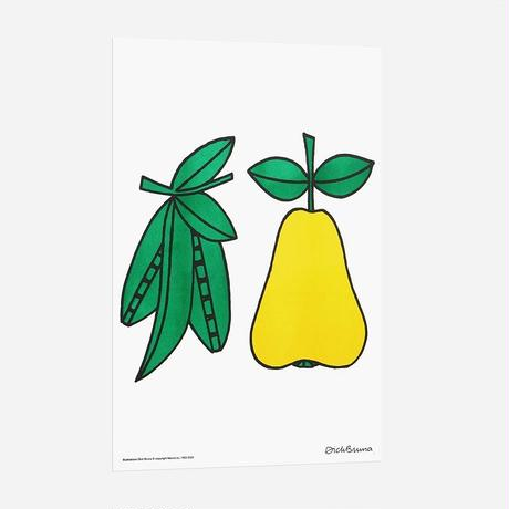 PEA & PEAR | Miffy A3 RISO poster