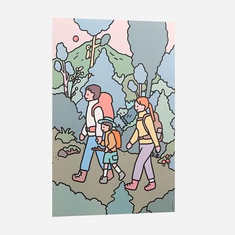 FAMILY TREKKING   A3 poster(受注生産商品)