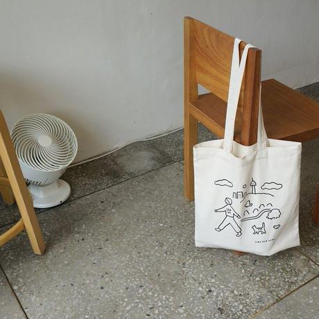 WALK WALK SEOUL ivory | Eco bag