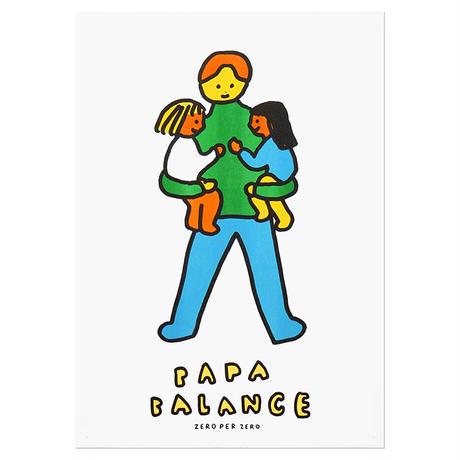 PAPA BALANCE 2   A3 RISO poster(受注生産商品)