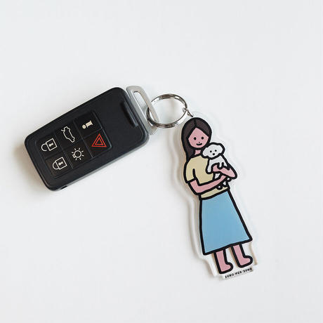 WOMAN 4 [L] | Stand Up Keyring