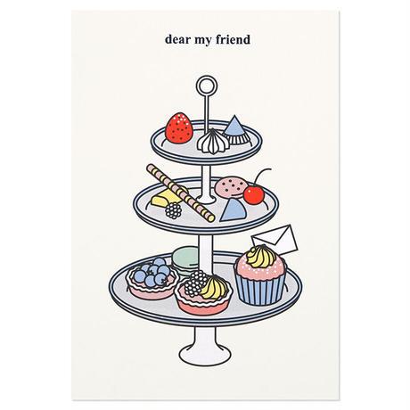 TEA TIME 2 (DEAR MY FRIEND) | Cake card