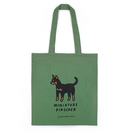 MINIATURE PINSCHER Ash Green   Eco bag