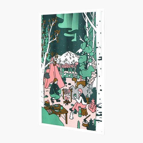 CAMPING   A3 RISO poster(受注生産商品)