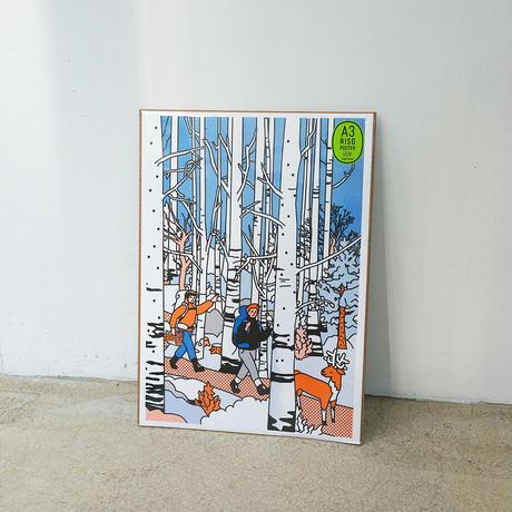 WHITE BIRCH   A3 RISO poster(受注生産商品)