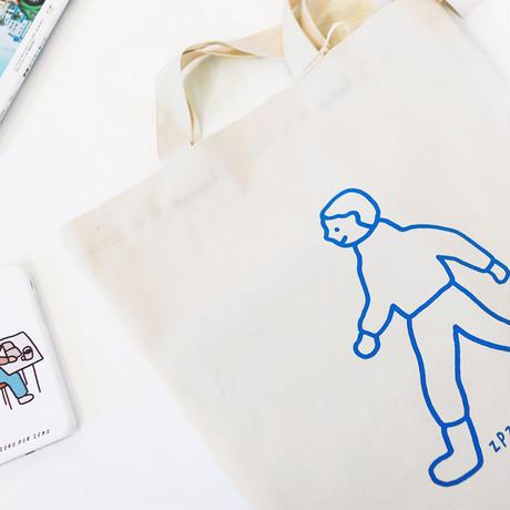 WALK WALK boy white | Eco bag