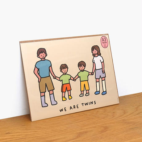 TWINS FAMILY (BROTHERS) | A3 poster(受注生産商品)