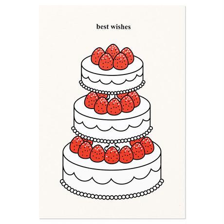 STRAWBERRY CAKE (BEST WISHES) | Cake card