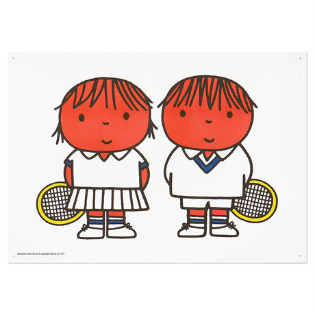 TENNIS | Miffy A3 RISO poster