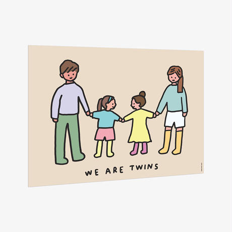 TWINS FAMILY (SISTERS)   A3 poster(受注生産商品)