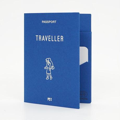 TRAVELLER blue   Passport cover