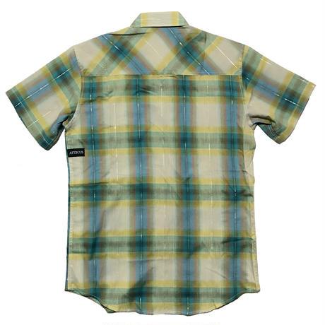 ATTICUS  / RANGERショートスリーブチェックシャツ(オーシャン)