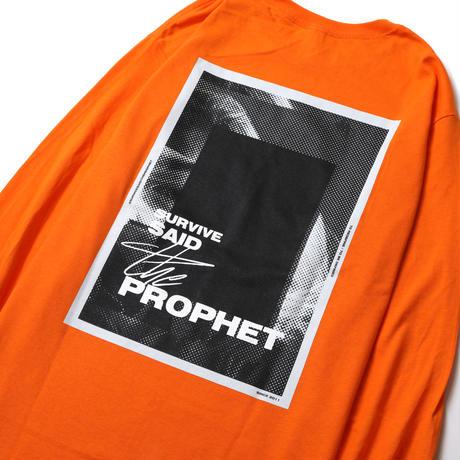 Survive Said The Prophet / BITMAP L/S TEE (ORANGE)