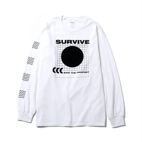 Survive Said The Prophet / SPACE LONG SLEEVE TEE (WHITE)