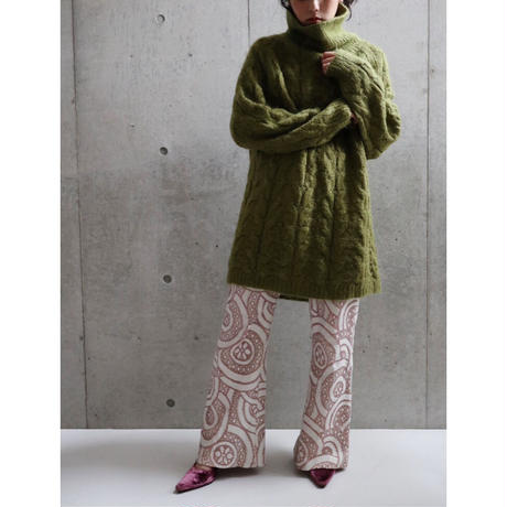 80S MOHAIR PISTACCHIO COLOR LONG LENGTH KNIT