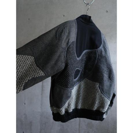 80s  Various wool patchwork design zip up jacket