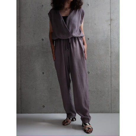 LILAC LINEN COTTON JUMP SUIT