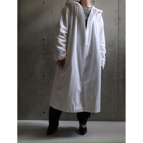 DKNY PADDING HOODED GOWN COAT