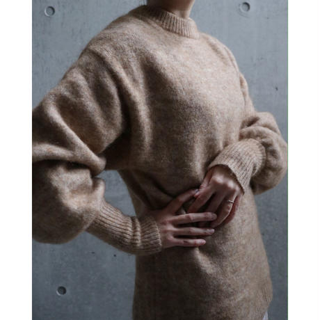 MOHAIR LONG RIB SWEATER