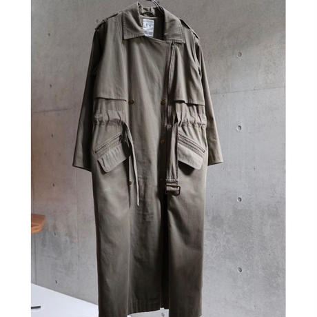 80S TOGETHER COTTON ZIPUP LONG COAT