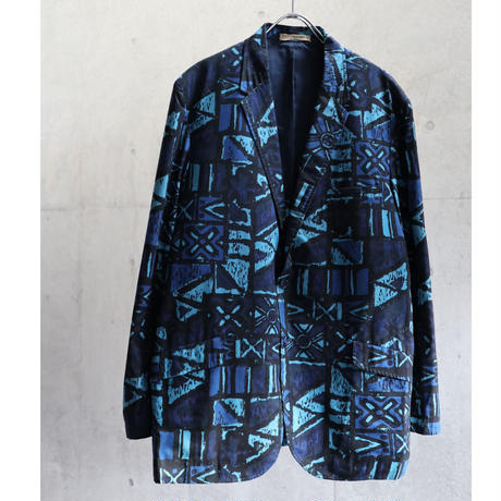 50s USA BATIK PATTERN TAILORED JACKET