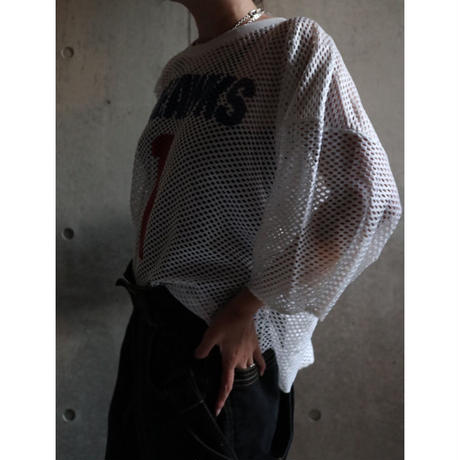 80S USA CHAMPION CROPPED MESH TOPS