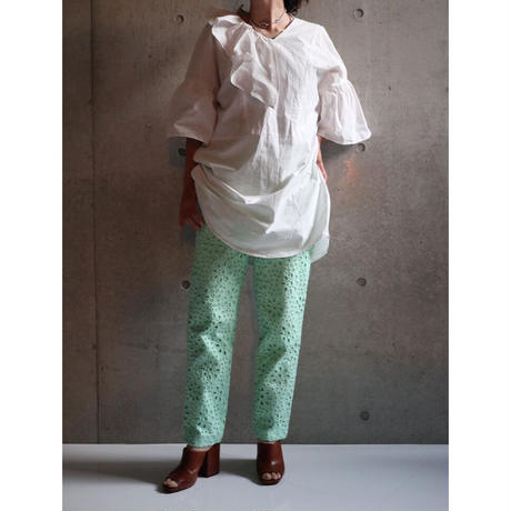 MINT GREEN LACE TROUSERS
