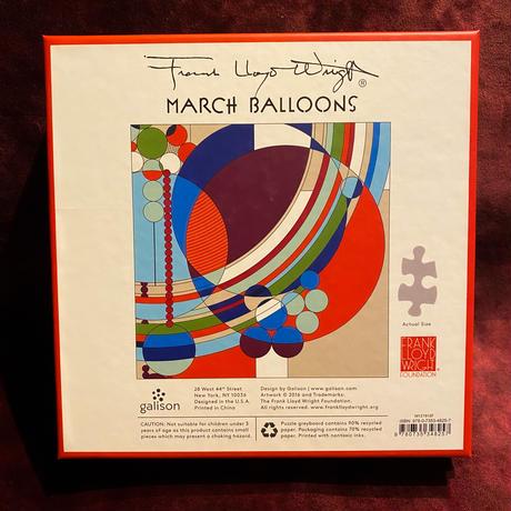 フランク・ロイド・ライト 『 March Balloons』アートパズル