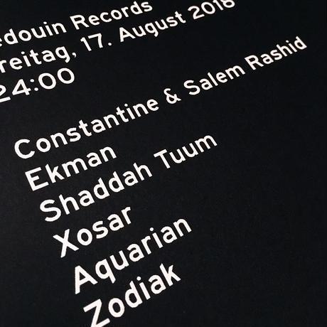BEDOUIN BERGHAIN SCREEN POSTER [A3]