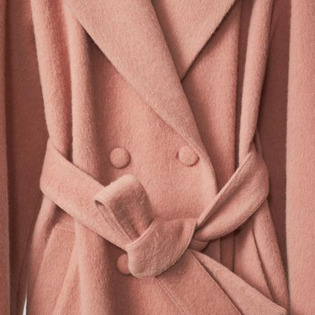 doble belted wool coat / pink