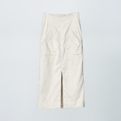 high wasted pencil skirts / beige