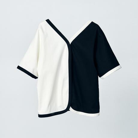 bicolor slip on jacket