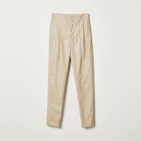 high-waist 2darts leather pants