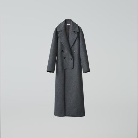lucky long slit coat / gray