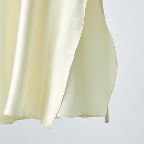 cross back long dress / cream