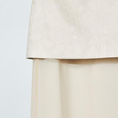 two face long skirt / beige