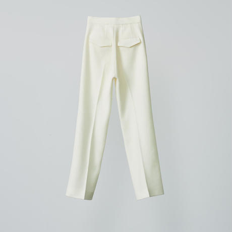 High waist trouser pants / white