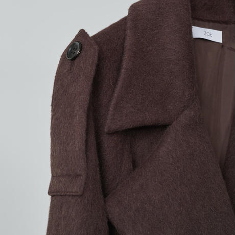Raglan sleeve coat / brown