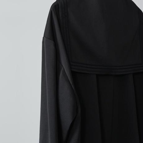 sailor collar shirts / black
